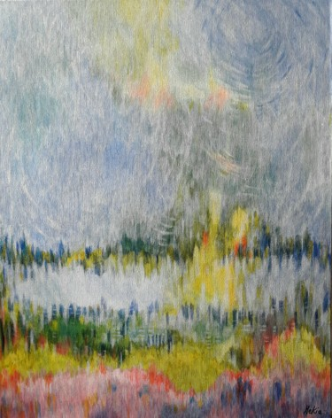Painting, acrylic, abstract, artwork by Marie-Eve Kia