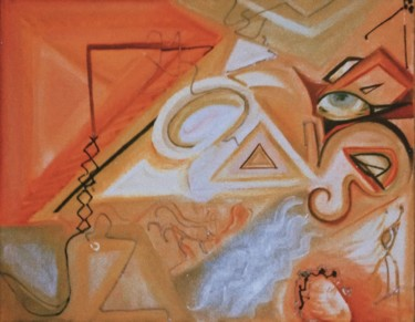 """Painting titled """"Love and Renaissance"""" by Pusca Konstance, Original Art, Oil"""
