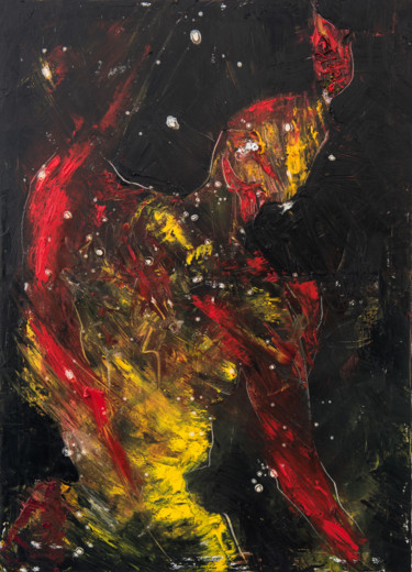 """Painting titled """"Red Shadow VI: Mirr…"""" by Mihail Ivanov, Original Art, Oil"""