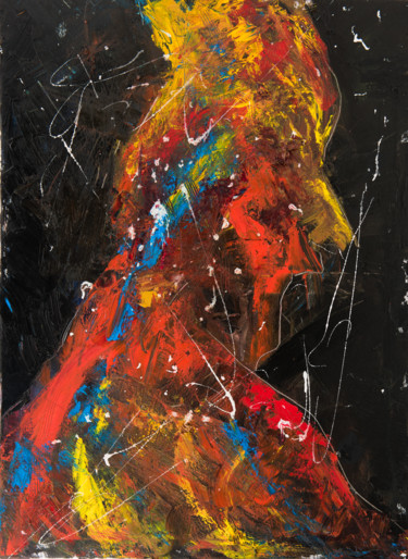 """Painting titled """"Red Shadow VIII: Bl…"""" by Mihail Ivanov, Original Art, Oil Mounted on Stretcher frame"""