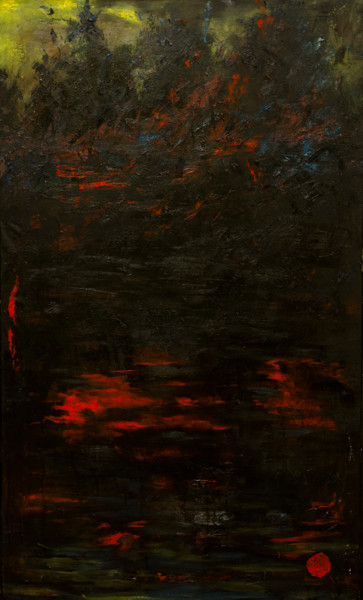 """Painting titled """"Black Water"""" by Mihail Ivanov, Original Art, Oil"""