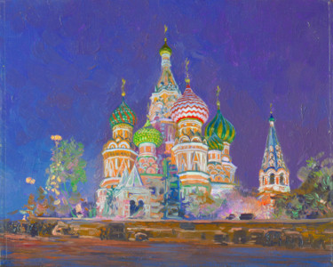 """Painting titled """"Cathedral of Saint…"""" by Simon Kozhin, Original Art, Oil"""