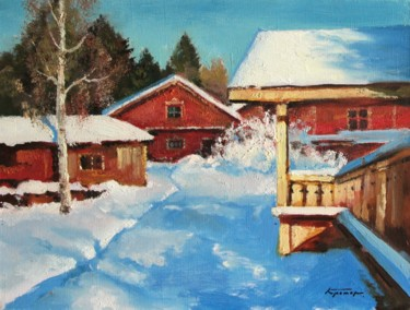 """Painting titled """"Spring, March"""" by Mark Kremer, Original Art,"""