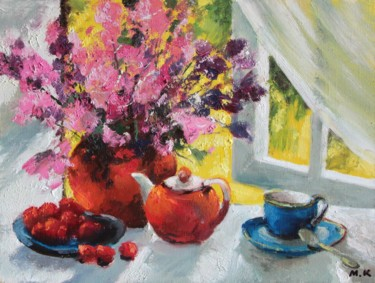 """Painting titled """"Flowers at the wind…"""" by Mark Kremer, Original Art,"""