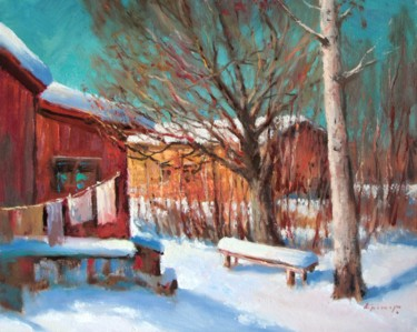 """Painting titled """"Sunny March"""" by Mark Kremer, Original Art, Oil"""