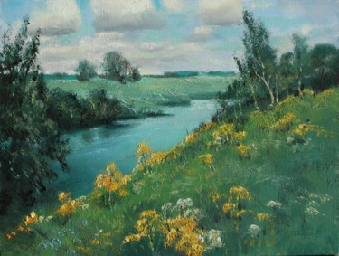 """Painting titled """"Above the Istra riv…"""" by Mark Kremer, Original Art,"""