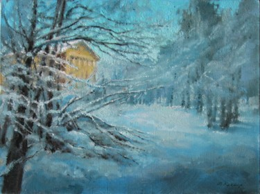 """Painting titled """"Winter in the park"""" by Mark Kremer, Original Art,"""