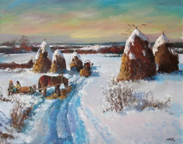 """Painting titled """"Winter, hey collect…"""" by Mark Kremer, Original Art, Oil"""