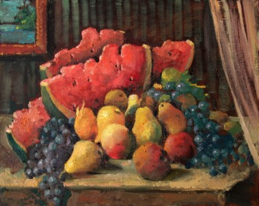 """Painting titled """"Still life with wat…"""" by Mark Kremer, Original Art, Oil"""