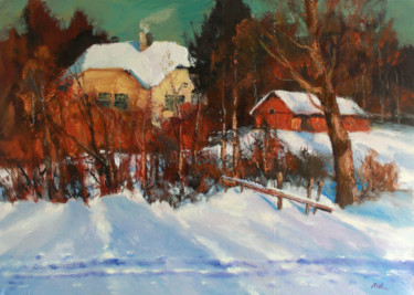 """Painting titled """"Sun in the March"""" by Mark Kremer, Original Art, Oil"""