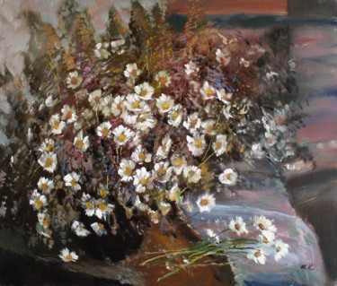 """Painting titled """"Camomiles"""" by Mark Kremer, Original Art, Oil"""