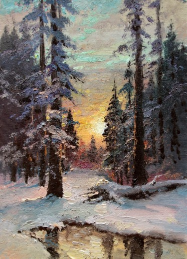 """Painting titled """"Mogning in the Fore…"""" by Mark Kremer, Original Art, Oil"""