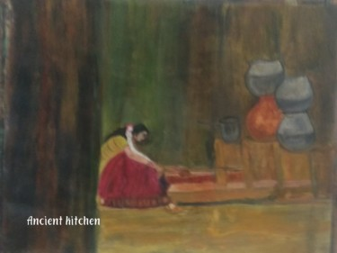 Painting, paper, figurative, artwork by Krishna Art Gallery