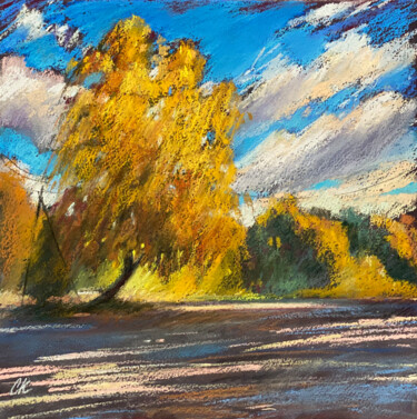 """Drawing titled """"Autumn day"""" by Кристина Савинова, Original Art, Pastel"""