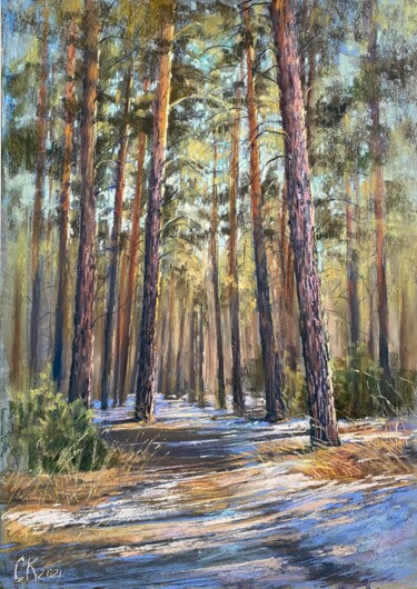 """Drawing titled """"Sunny day"""" by Кристина Савинова, Original Art, Pastel"""