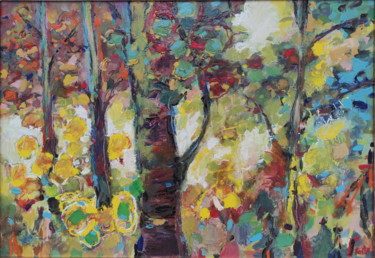 """Painting titled """"Forest"""" by Krum Kostov - Maestro Online, Original Art, Acrylic Mounted on Stretcher frame"""