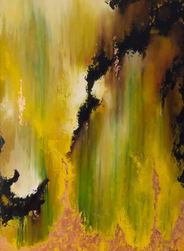 Painting, oil, abstract, artwork by Laetitia Guillon