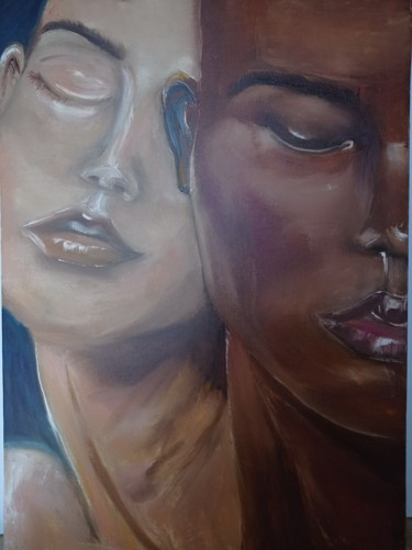 """Painting titled """"Passion"""" by Lali Eradze, Original Art, Oil"""