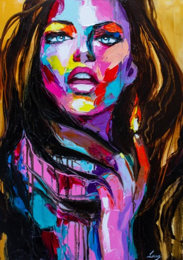 Portrait Painting, oil, expressionism, artwork by Lana