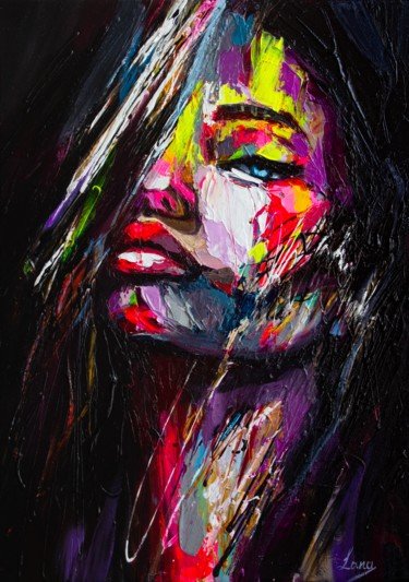 Women Painting, acrylic, fauvism, artwork by Lana