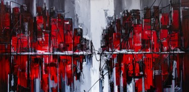 City Painting, acrylic, abstract, artwork by Lana