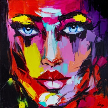 Women Painting, oil, fauvism, artwork by Lana