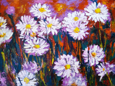 """Painting titled """"Daisy"""" by Lanalight S., Original Art, Oil"""