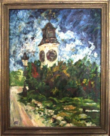 """Painting titled """"TOWER"""" by Landscape Art, Original Art, Oil"""