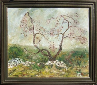 """Painting titled """"OLD TREE"""" by Landscape Art, Original Art, Oil"""