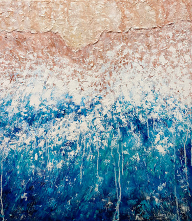 """Painting titled """"Ocean Oil Painting…"""" by Larisa Chigirina, Original Art, Oil Mounted on Stretcher frame"""