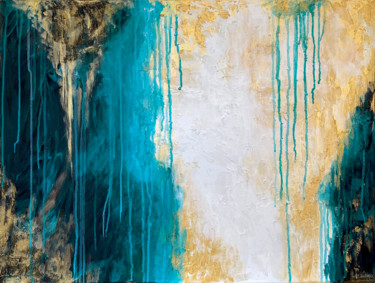 """Painting titled """"LAGOON - Abstract m…"""" by Larisa Chigirina, Original Art, Acrylic Mounted on Stretcher frame"""