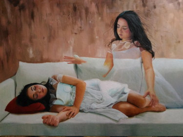 """Painting titled """"percezioni extrasen…"""" by Laura Muolo, Original Art, Oil"""