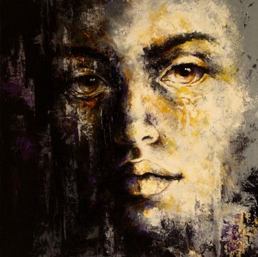 """Painting titled """"'Expression02'"""" by Laura Rominu, Original Art, Oil Mounted on Other rigid panel"""