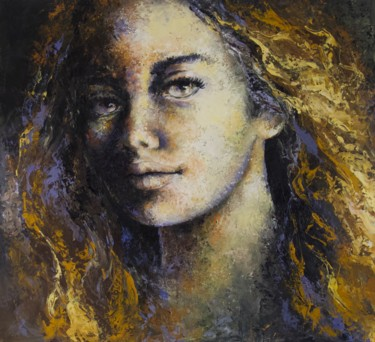 """Painting titled """"'Expression03'"""" by Laura Rominu, Original Art, Oil Mounted on Other rigid panel"""