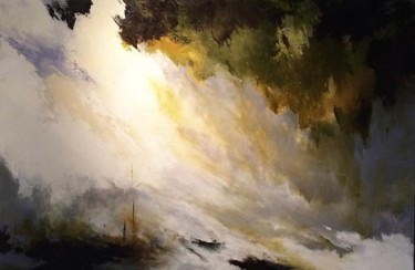 """Painting titled """"Zen on the Sea"""" by Laura Rominu, Original Art, Acrylic"""