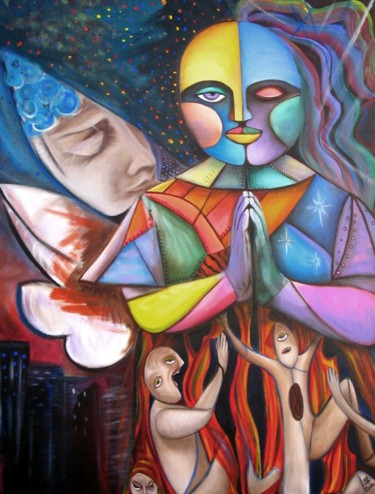 """Painting titled """"End Of Ages"""" by Laura Barbosa, Original Art, Acrylic"""
