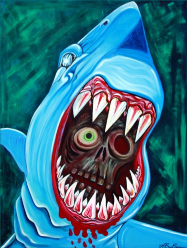 """Painting titled """"Great White Gobstop…"""" by Laura Barbosa, Original Art, Acrylic"""