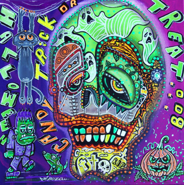 """Painting titled """"Treat or Trick"""" by Laura Barbosa, Original Art, Acrylic"""