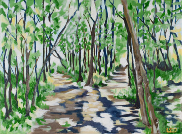"""Painting titled """"Two Paths"""" by Laura K Smith, Original Art, Acrylic Mounted on Stretcher frame"""