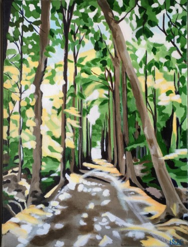 """Painting titled """"Forest Light"""" by Laura K Smith, Original Art, Acrylic"""