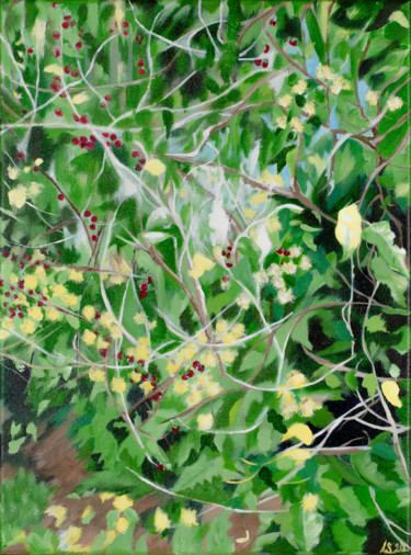 """Painting titled """"Through the Branches"""" by Laura K Smith Paintings, Original Art, Acrylic Mounted on Stretcher frame"""
