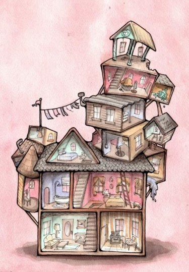 """Collages titled """"Adding rooms to my…"""" by Laura Lee Gulledge, Original Art,"""