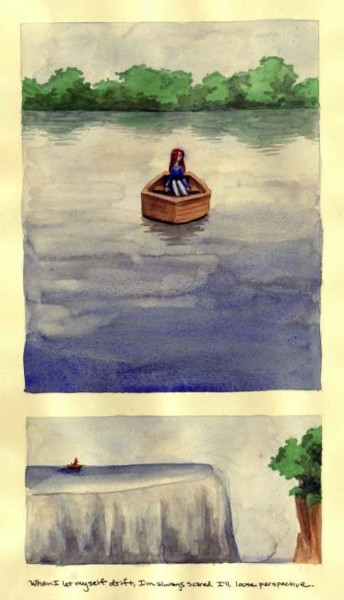 """Collages titled """"Drifting and Losing…"""" by Laura Lee Gulledge, Original Art,"""