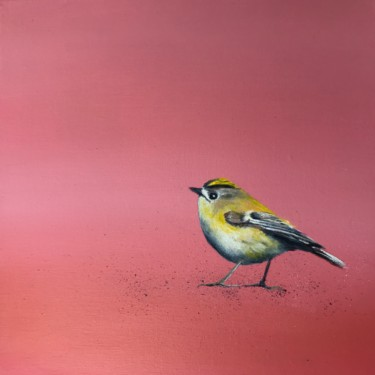 """Painting titled """"Gold crest ~ on ros…"""" by Laure Bury, Original Art, Oil"""