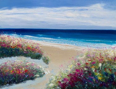 """Painting titled """"Sand Dunes And Salt…"""" by Laure Bury, Original Art, Oil Mounted on Stretcher frame"""