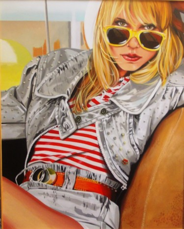 """Painting titled """"FASHION perles/mari…"""" by Laurence Delmotte-Berreby, Original Art, Acrylic"""