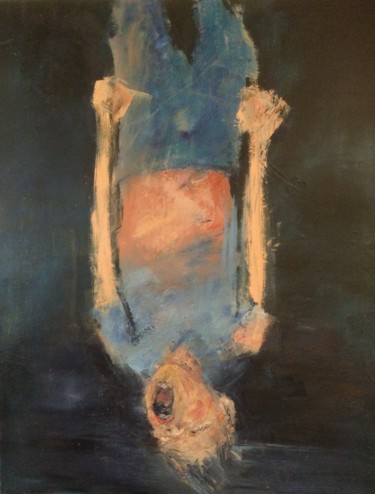 Painting, oil, expressionism, artwork by Laurence Pustoc'H
