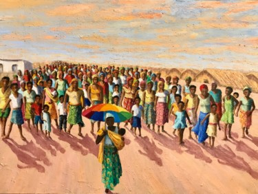 """Painting titled """"Women's day - Ilha…"""" by Laurence Blanchard, Original Art, Oil"""