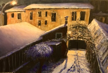 """Painting titled """"Winter in Paris - F…"""" by Laurence Blanchard, Original Art, Oil"""
