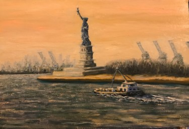 """Painting titled """"Statue of Liberty -…"""" by Laurence Blanchard, Original Art, Oil"""